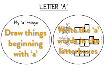 Letters of the Alphabet Factball printable activities NSW Foundation font