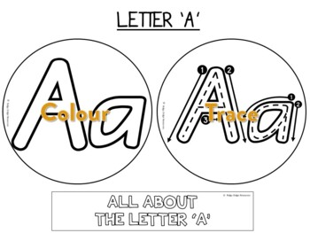 Alphabet Factball craftivity NSW Foundation font