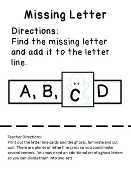 Letters of the Alphabet Halloween Theme