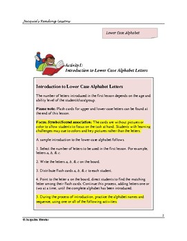 Letters of the Alphabet: Instant lesson 1A