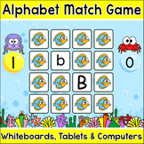 Letters of the Alphabet Digital Memory Matching Game - Letter Recognition Game