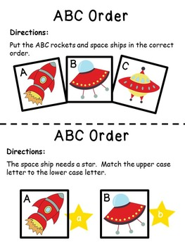 Letters of the Alphabet Space Theme
