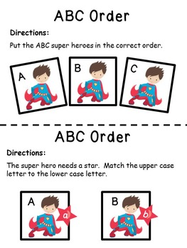 Letters of the Alphabet Super Hero Theme