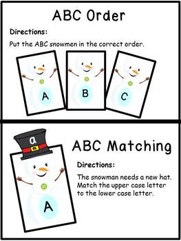 Letters of the Alphabet Winter Theme