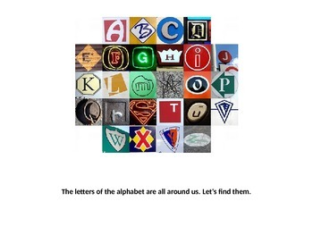 Letters of the Alphabet on Signs - Book
