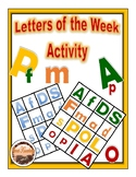 Letters of the Week Activity