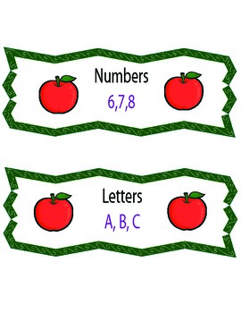 Letters or Numbers? (Apple Theme)