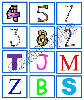 Letters or numbers