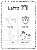 Letters puzzle m-p Spanish immersion