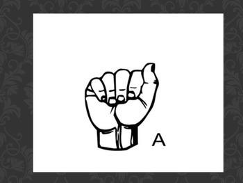 Letters sign language