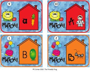 Letters to Beginning Sounds Match: Write the Room