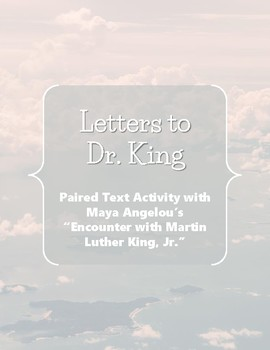 Letters to Dr. King || Martin Luther King Day Activity