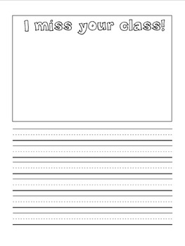 Letters to Kindergarten! A FIRST grade Back to School Writing Activity.