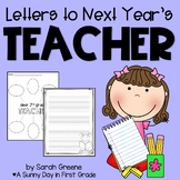 Letters to Next Year's Teacher