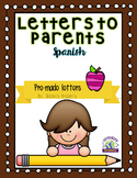 Letters to Parents Spanish