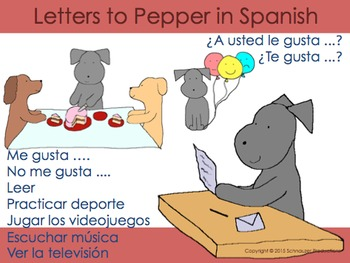 Letters to Pepper in Spanish