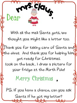 Letters to Santa {And the Mrs.}