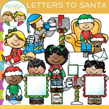 Letters to Santa Christmas Clip Art