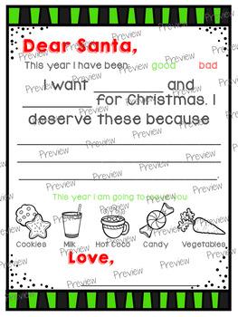 Letters to Santa Freebie