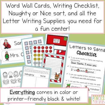 Letters to Santa - Planning Pages, Templates, Writing Center Supplies & More!