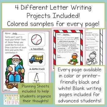 Dear Santa - Letter Writing Unit