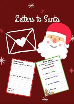 Letters to Santa Resource Pack