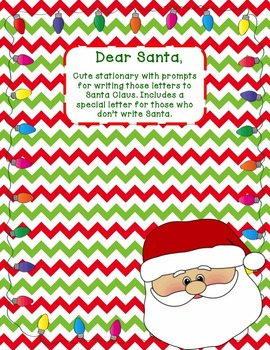 Letters to Santa - Stationary for Writing Friendly Letters
