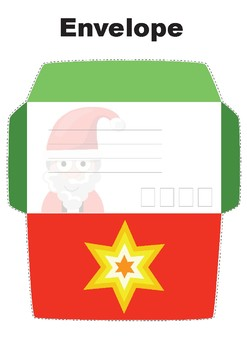 Letters to Santa Xmas Activity. Stamps, writing paper + envelope PLEASE RATE