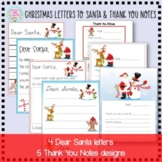 Letters to Santa and Christmas Thank You Notes