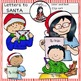 Letters to Santa clip art -Color and B&W-