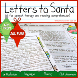 Christmas Letters to Santa for Comprehension & Articulatio