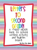 Letters to Second Grade! A THIRD grade Back to School Writing Activity.