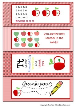 Letters to Teachers (from students) USA VERSION