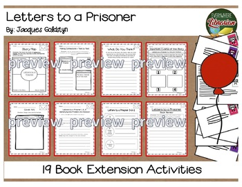 Letters to a Prisoner by Goldstyn 19 Book Extension Activities NO PREP