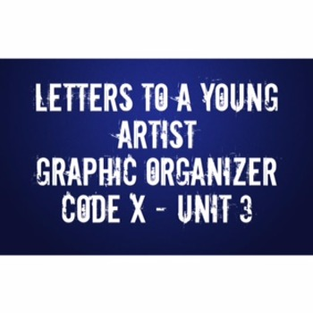 Letters to a Young Artist Graphic Organizer