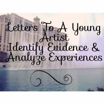 Code X Unit 3 Letters to a Young Artist Identify Evidence