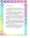 Letters to students Testing time
