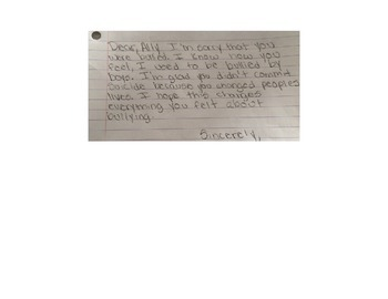 Letters to the Bullied -Lesson Plan