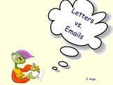 Letters vs. Emails - Smartboard Lesson