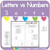 Letters vs Numbers Sorts