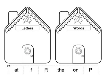 Letters vs Words Gingerbread House