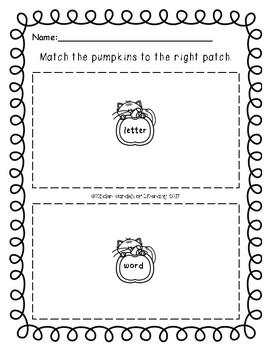 Letters vs. Words-Pumpkin Patch