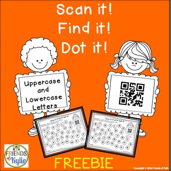 Letters with QR Codes (Black and White) FREEBIE
