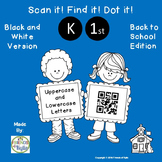 Letters with QR Codes (Black and White Version)