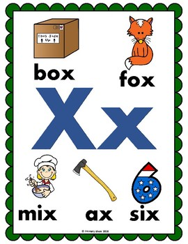 Letters x and q: Phonics Pack
