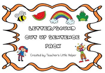 Letter/sound cut up sentence pack