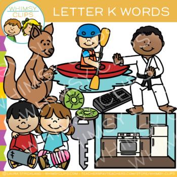Lettert K Clip Art {Alphabet Beginning Sounds Clip Art}