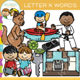 Lettert K Clip Art {Alphabet Beginning Sounds Clip Art}