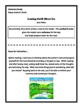 Letting Swift River Go Literature Study