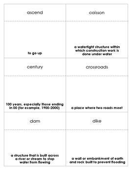 Letting Swift River Go Vocabulary Bingo